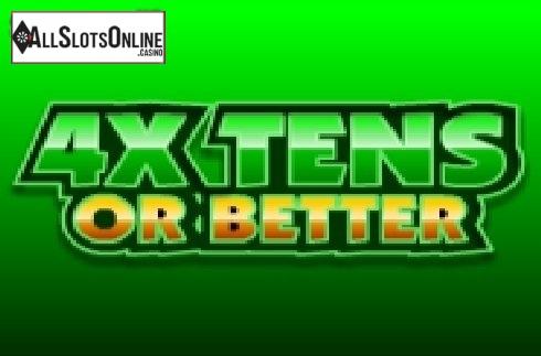 4x Tens Or Better Poker